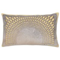 Aura Hair on Hide Oblong Throw Pillow in Yellow