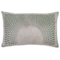 Aura Hair on Hide Oblong Throw Pillow in Turquoise