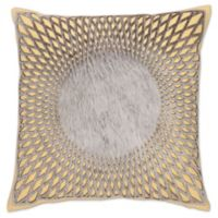 Aura Hair on Hide Square Throw Pillow in Yellow