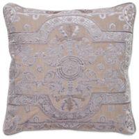 Aura Louis Velvet Throw Pillow in Grey