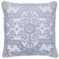 Aura Louis Velvet Throw Pillow in Sky Blue