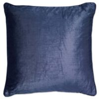 Aura Square Throw Pillow in Navy