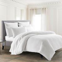 Kassatex Paloma Reversible King Duvet Cover in White