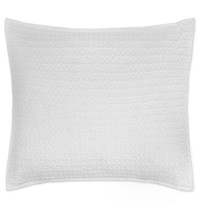 kassatex paloma european pillow sham in white