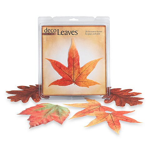 Fall Parchment Deco Leaves (Set of 20)