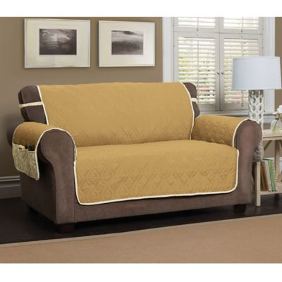 Attractive 5 Star Extra Large Sofa Protector In Gold/Ivory