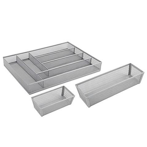 image of .ORG Powder-Coated Mesh Drawer Organizers