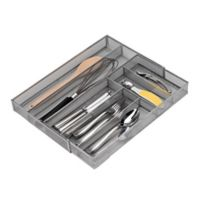 .ORG Powder-Coated Extra Large Mesh Cutlery Tray in Silver