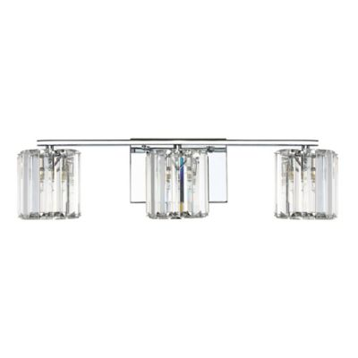 Buy crystal vanity lighting for bathroom from bed bath beyond quoizel platinum divine 3 light led bath fixture in polished chrome mozeypictures Gallery