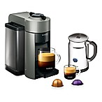Nespresso® VertuoLine Evoluo Coffee/Espresso Maker in Grey with Aeroccino Plus Frother