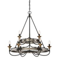 Quoizel Castle Hill 9-Light Chandelier in Antique Nickel