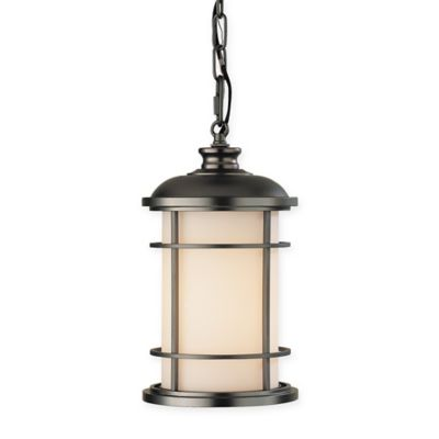 Feiss lighthouse 12 1 4 inch outdoor hanging pendant light in burnished