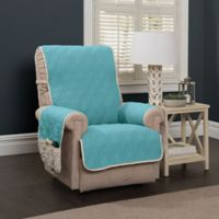 5 Star Wing Chair/Recliner Protector in Blue/Ivory