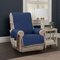 5 Star Wing Chair/Recliner Protector in Navy/Ivory