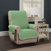 5 Star Wing Chair/Recliner Protector in Green/Ivory