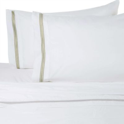 Micro Lush Hotel Embroidered Sheet Set in Taupe