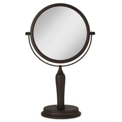 Buy 1x 5x Dual Sided Oval Vanity Mirror In Oil Rubbed Bronze From Bed Bath Beyond