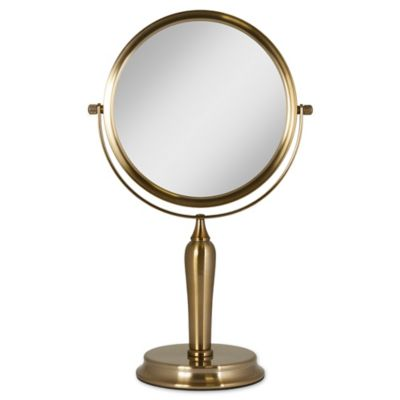 Anaheim 1x/5x Two Sided Vanity Swivel Mirror In Gold