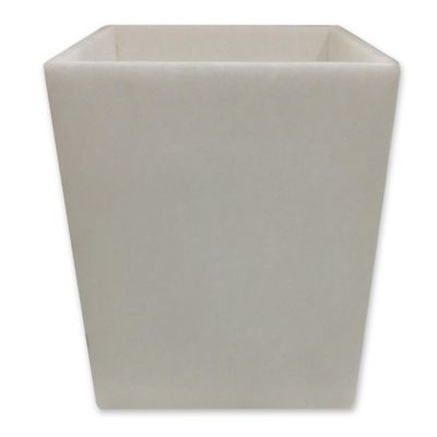 Bath Fashions Alabaster Marble Wastebasket In Beige