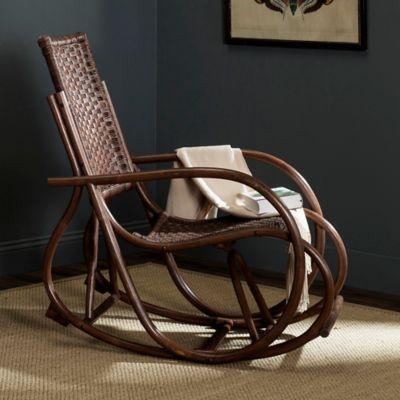 Safavieh Bali Wicker Rocking Chair in Brown