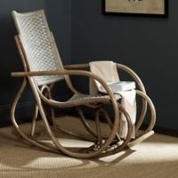 Safavieh Bali Wicker Rocking Chair in Antique Grey