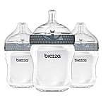 Baby Brezza® 3-Pack 9 oz. Natural Bottles in Grey