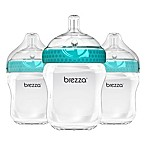 Baby Brezza® 3-Pack 9 oz. Natural Bottles in Blue