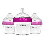 Baby Brezza® 3-Pack 5 oz. Natural Bottles in Pink