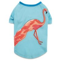 Zack and Zoey Size M Flamingo Tee Shirts for Dogs in Pink/Aqua
