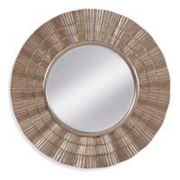 Basset Mirror Company Luana 36-Inch Round Mirror in Silver