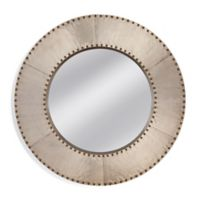 Basset Mirror Company Lexington 40-Inch Round Mirror in Aluminum