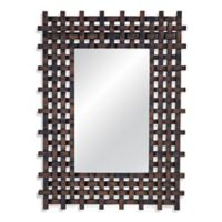 Bassett Mirror Company Jaden 36-Inch x 48-Inch Rectangle Kyla Mirror in Antique Brown