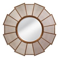 Bassett Mirror Company Sherwin 38-Inch Round Wall Mirror in Gold Leaf