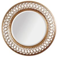 Bassett Mirror Company Old World Alissa 45-Inch Round Wall Mirror in Champagne