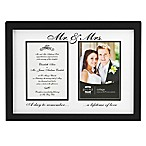 Prinz Forevermore  Mr. and Mrs.  Styrene Picture Frame in Black