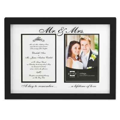 "Prinz Forevermore ""Mr. and Mrs."" Styrene Picture Frame in Black"
