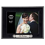 "Prinz ""The Wedding"" Picture Frame in Black Wood Grain"