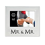 Prinz 6-Inch x 4-Inch Wedding Anniversary  Mr. & Mr.  Picture Frame in Matte Silver