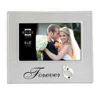 """Prinz 6-Inch x 4-Inch """"Forever"""" Picture Frame in Silver"""