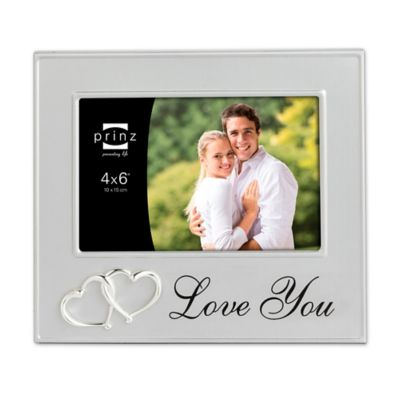 prinz 6 inch x 4 inch love you picture frame in silver