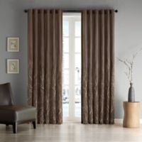 Madison Park Andora 108-Inch Rod Pocket/Back Tab Lined Window Curtain Panel in Chocolate