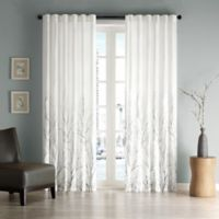 Madison Park Andora 108-Inch Rod Pocket/Back Tab Lined Window Curtain Panel in White