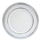 Charge It by Jay 14-Inch Beaded Charger Plate in White