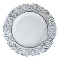 Charge it by Jay Aristocrat Charger Plate in White