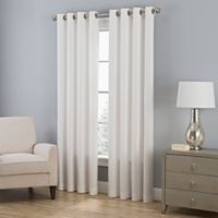 Zorlu Everett 84-Inch Grommet Top Chenille Window Curtain Panel in Pearl
