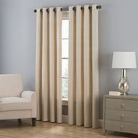Everett 63-Inch Grommet Window Curtain Panel in Natural