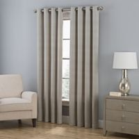 Everett 63-Inch Grommet Window Curtain Panel in Grey