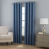 Everett 108-Inch Grommet Window Curtain Panel in Indigo