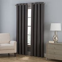 Everett 95-Inch Grommet Window Curtain Panel in Charcoal