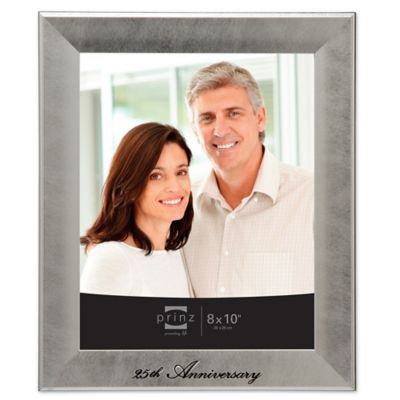 prinz anniversary 25th 8 inch x 10 inch picture frame in silver